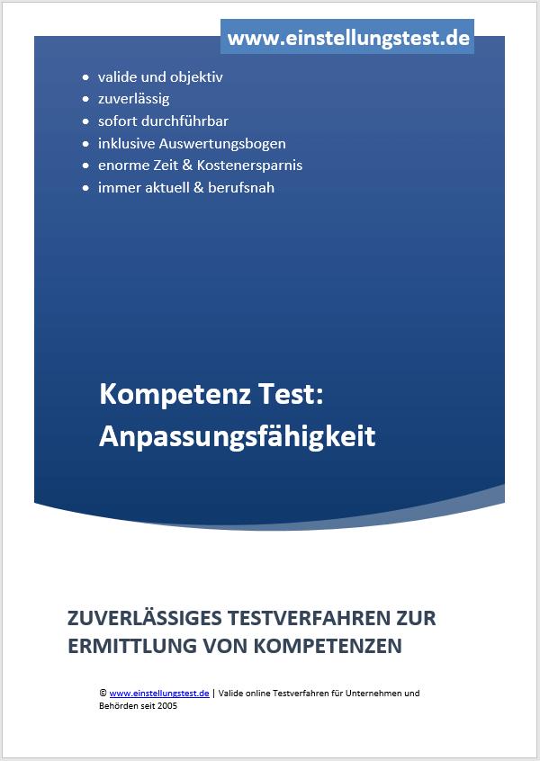 Einstellungstest im Auswahlverfahren: Anpassungsfähigkeit