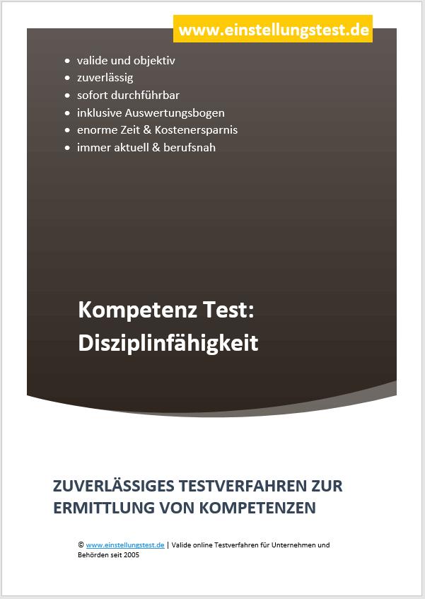 Einstellungstest im Auswahlverfahren: Disziplinfähigkeit