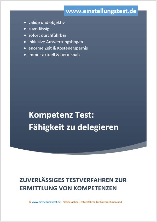 Einstellungstest im Auswahlverfahren: Fähigkeit zu delegieren