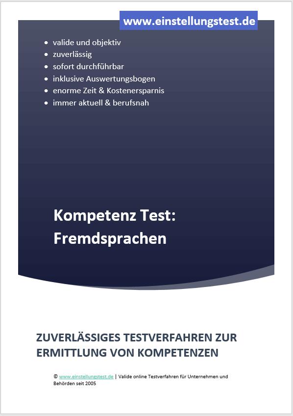 Einstellungstest im Auswahlverfahren: Fremdsprachen