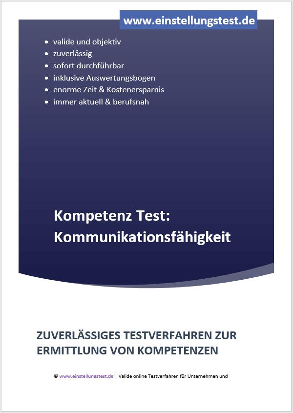 Einstellungstest im Auswahlverfahren: Kommunikationsfähigkeit