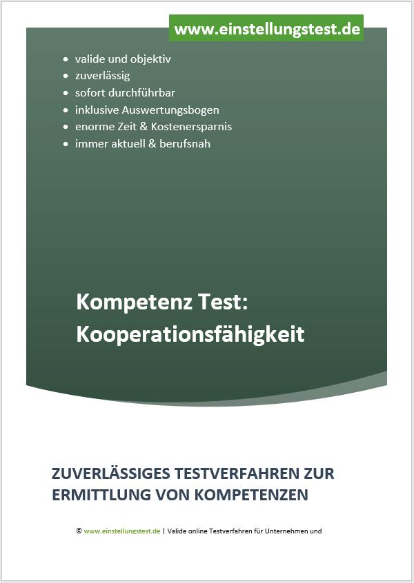 Einstellungstest im Auswahlverfahren: Kooperationsfähigkeit