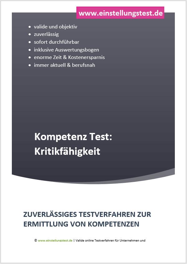 Einstellungstest im Auswahlverfahren: Kritikfähigkeit