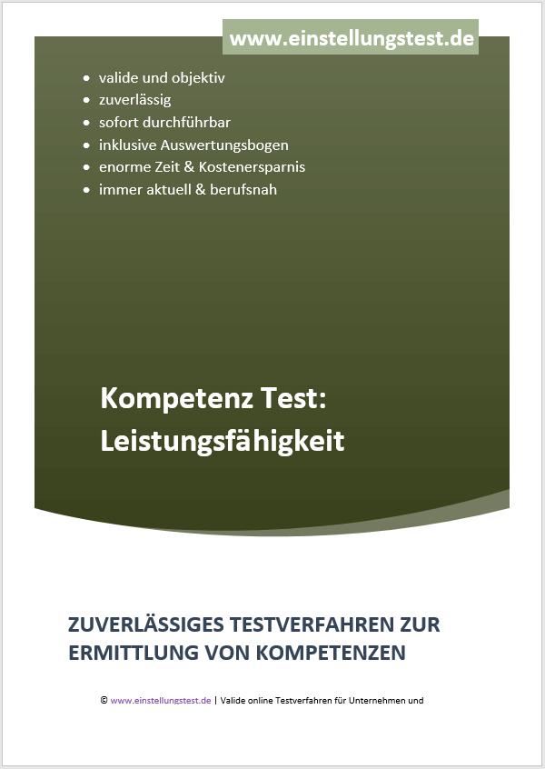 Einstellungstest im Auswahlverfahren: Leistungsfähigkeit