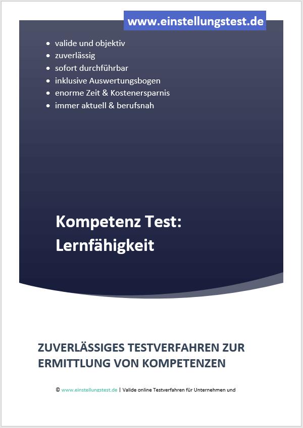 Einstellungstest im Auswahlverfahren: Lernfähigkeit