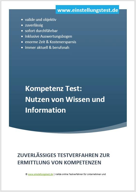 Einstellungstest im Auswahlverfahren: Nutzen von Wissen und Information