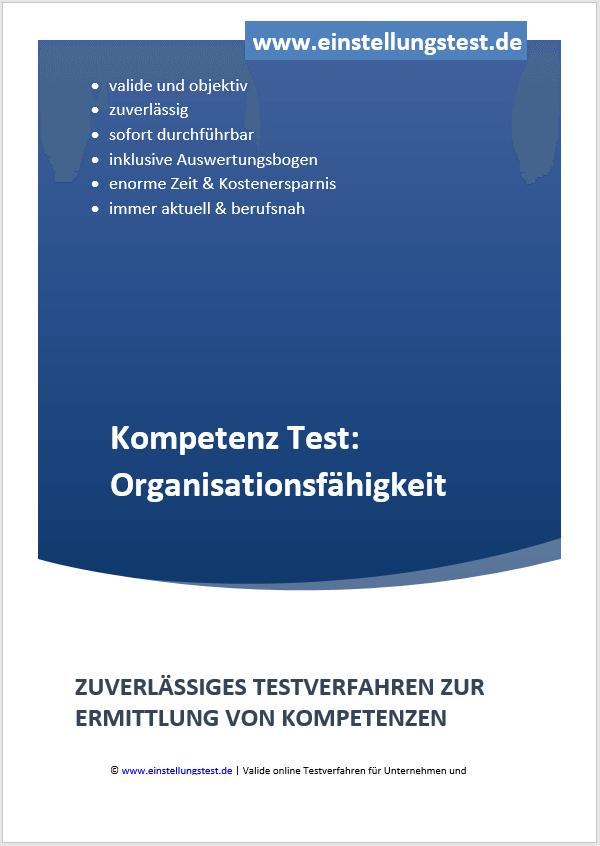 Einstellungstest im Auswahlverfahren: Organisationsfähigkeiten