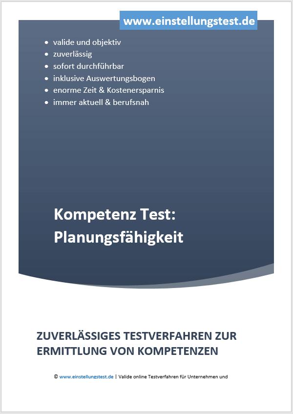 Einstellungstest im Auswahlverfahren: Planungsfähigkeiten
