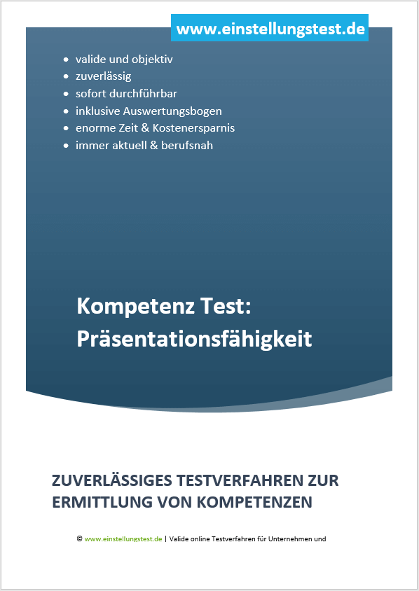 Einstellungstest im Auswahlverfahren: Präsentationsfähigkeit