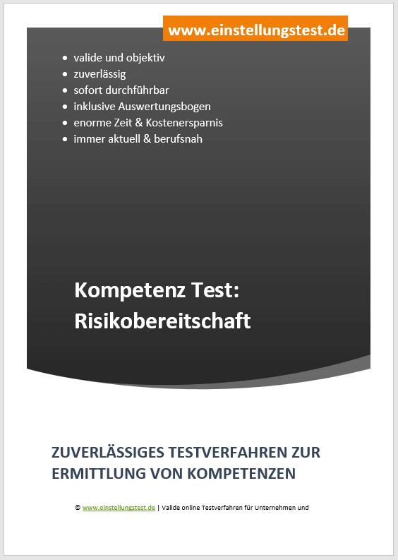 Einstellungstest im Auswahlverfahren: Risikobereitschaft