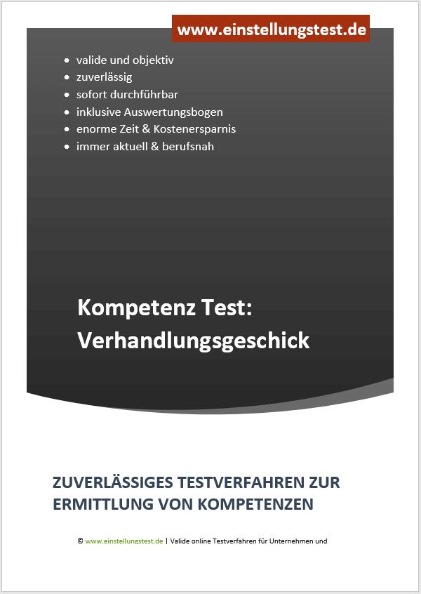 Einstellungstest im Auswahlverfahren: Verhandlungsgeschick/Verhandlung